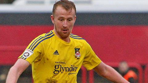 Mark Beck during his time on loan at Wrexham