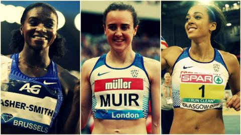 Dina-Asher Smith, Laura Muir and Katarina Johnson-Thompson are all part of the Great Britain team