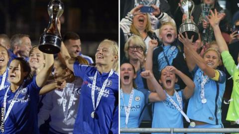 Chelsea Ladies (left) and Manchester City Women