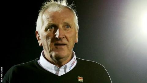 Eastleigh manager Ronnie Moore