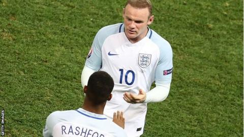Wayne Rooney Marcus Rashford