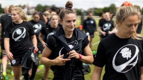 "Jasmine Joyce is enjoying training with ""world-class players"" ahead of the Barbarians' game against England"