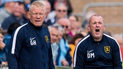 Davie Martindale, right, took the Livingston team after Gary Holt was admitted to hospital