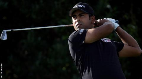 Anirban Lahiri in first-round action at the CareerBuilder Challenge