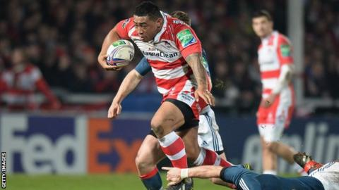Sila Puafisi in action for Gloucester
