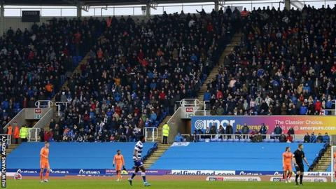 Cardiff City fans at Reading