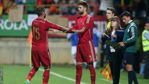 Gerard Pique and Sergio Ramos