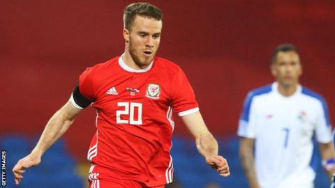 Marley Watkins in action for Wales