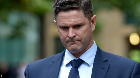 New Zealand cricketer Chris Cairns outside Southwark Crown Court, London