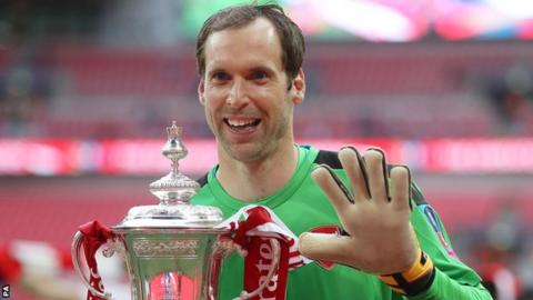 Arsenal keeper Petr Cech