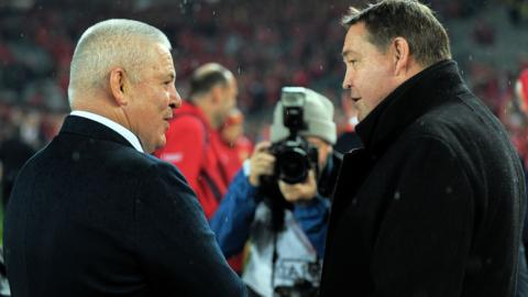 Wales head coach Warren Gatland and New Zealand counterpart Steve Hansen
