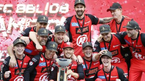 Melbourne Renegades celebrate their first Big Bash title