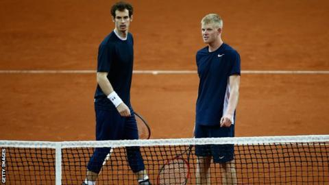 Andy Murray (left) and Kyle Edmund
