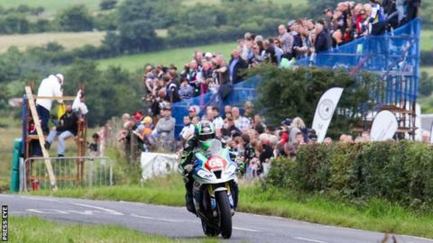 Michael Sweeney in action at last year's Armoy Road Races