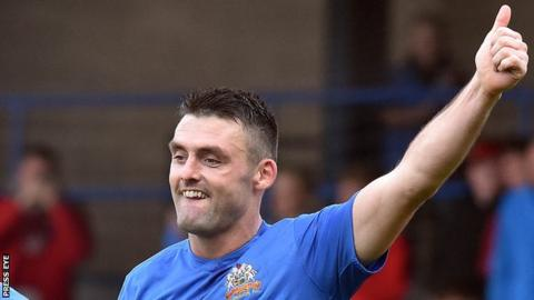 Eoin Bradley scored 30 Premiership goals during his two and a half seasons at Glenavon