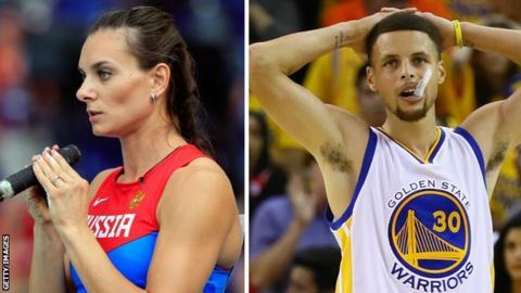 Stephen Curry and Isinbayeva