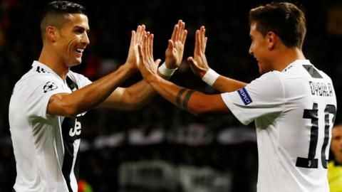 Ronaldo and Paulo Dybala