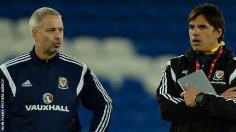 Kit Symons (left) and Chris Coleman (right)