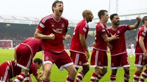 Aberdeen have moved five points clear at the top of the Scottish Premiership