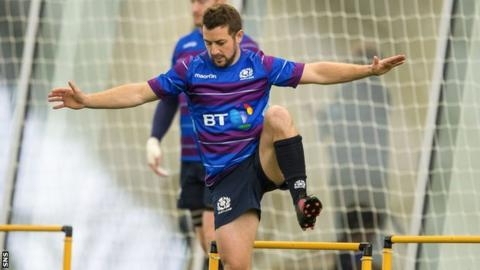 Scotland captain Greig Laidlaw in training
