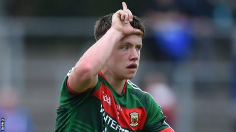 Paul Lambert celebrates after scoring one of Mayo's goals at Carrck-on-Shannon