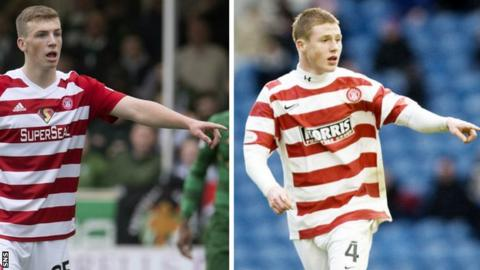 Lewis Ferguson and James McCarthy in Hamilton colours