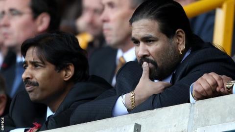 Blackburn Rovers co-owners Venkatesh Rao (left) and Balaji Rao