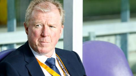 Steve McClaren looks on from the sidelines