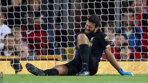 Liverpool keeper Alisson