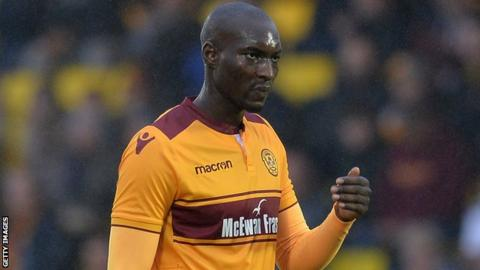 Bira Dembele in action for Motherwell