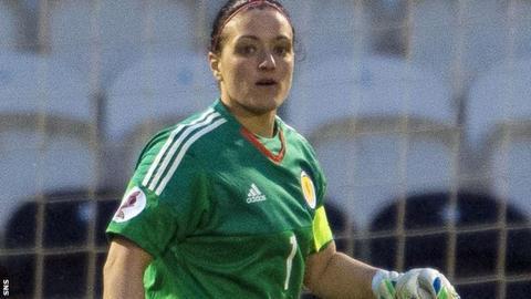 Scotland goakeeper Gemma Fay