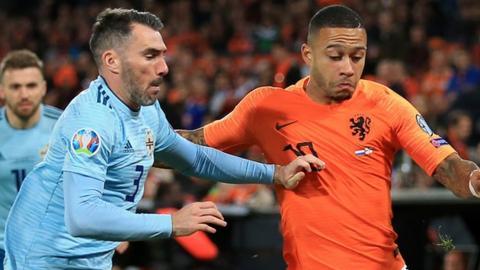 Steve Davis spurns penalty chance as Netherlands seal Euro 2020 place