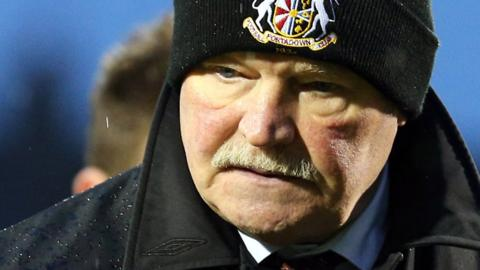 Portadown manager Ronnie McFall leaves Shamrock Park disappointed as his side fell to a 4-3 defeat by Ballymena United
