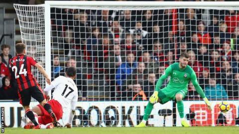 Austin earns Southampton a point at Bournemouth