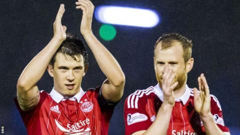 Aberdeen's Ryan Jack and Mark Reynolds