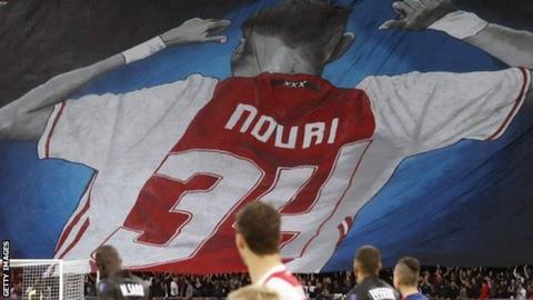 Pre-match tribute for Abdelhak Nouri