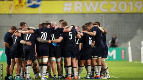 Scotland must beat Japan to reach the quarter finals if the match in Yokohama goes ahead