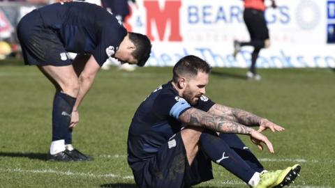 Dundee's Martin Woods at full-time