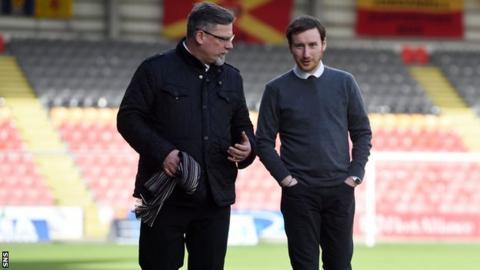 Hearts director of football Craig Levein, left, and Ian Cathro