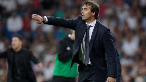 Julen Lopetegui while coach of Real Madrid