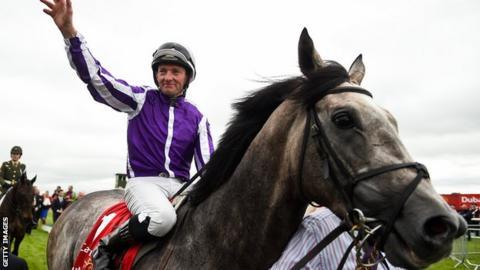 Jockey Seamie Heffernan clinched a third triumph in the Irish Derby