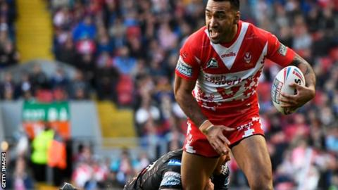 Zeb Taia in action for St Helens