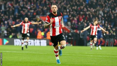 Danny Ings celebrates scoring