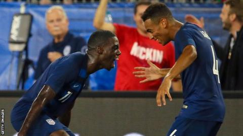 Weah (left) and Adams (right) are team-mates with the USA national team and started together in the New York Red Bulls' academy