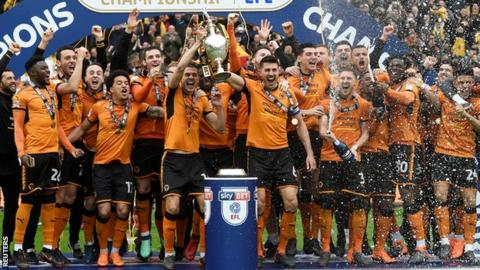 Wolves lift the Championship trophy