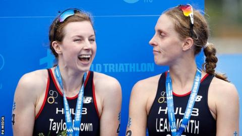 Great Britain's Georgia Taylor-Brown (left) and compatriot Jessica Learmonth