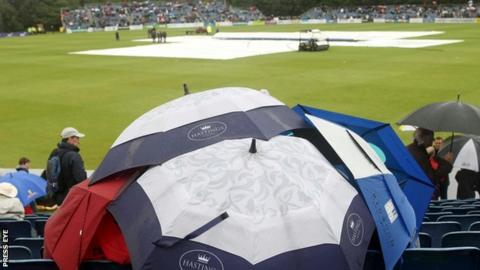 Rain prevented play in the opening ODI between Ireland and Afghanistan in Belfast