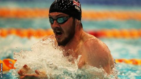 Ross Murdoch competes in the 100m breaststroke during the recent Edinburgh International Swim meet