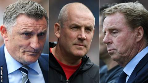 Tony Mowbray, Mark Warburton, Harry Redknapp