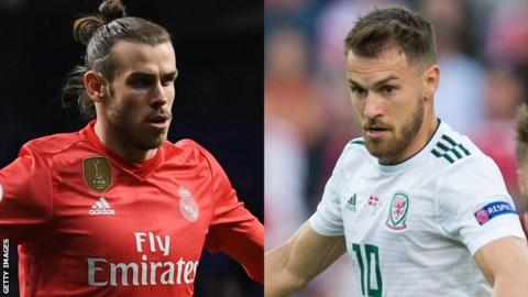 Gareth Bale (L) and Aaron Ramsey